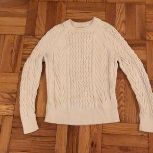 Cream colored knit sweater
